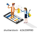 online shopping and online... | Shutterstock .eps vector #626208980