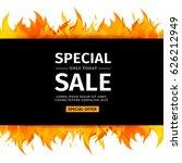 template design horizontal... | Shutterstock .eps vector #626212949
