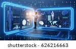 man doctor in futuristic... | Shutterstock . vector #626216663