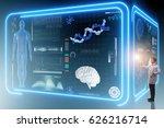 man doctor in futuristic... | Shutterstock . vector #626216714