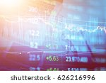 data analyzing in forex... | Shutterstock . vector #626216996