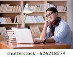 young writer working in the...   Shutterstock . vector #626218274