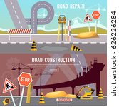 road construction and road... | Shutterstock .eps vector #626226284