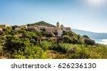 Church In Small Corsica Town ...