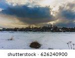 Landscape Frozen River Near A...