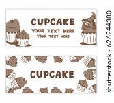set of cupcake banners  banners ...   Shutterstock .eps vector #626244380