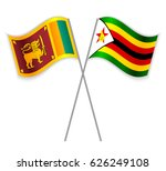 sri lankan and zimbabwean... | Shutterstock .eps vector #626249108
