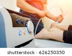 shock wave therapy. the... | Shutterstock . vector #626250350