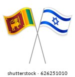 sri lankan and israeli crossed... | Shutterstock .eps vector #626251010