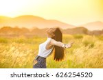 young woman relaxing in summer... | Shutterstock . vector #626254520