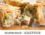 tasty baked chicken pot pie on... | Shutterstock . vector #626255318