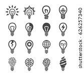 creative light bulb icon | Shutterstock .eps vector #626257340