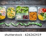 various healthy lunch boxes in  ... | Shutterstock . vector #626262419