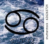 cancer zodiac sign on water... | Shutterstock . vector #626263724