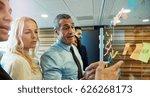 multiethnic business team in... | Shutterstock . vector #626268173