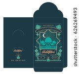 raya money packet template... | Shutterstock .eps vector #626269493