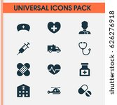 drug icons set. collection of... | Shutterstock .eps vector #626276918