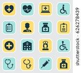 antibiotic icons set.... | Shutterstock .eps vector #626278439