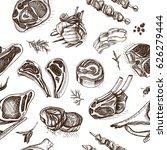 vector illustration sketch  ... | Shutterstock .eps vector #626279444