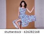 beauty woman model wear stylish ... | Shutterstock . vector #626282168