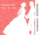 wedding invitation with the... | Shutterstock .eps vector #626282360