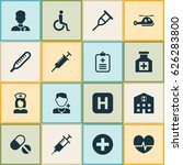medicine icons set. collection... | Shutterstock .eps vector #626283800