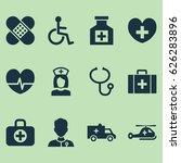 antibiotic icons set....   Shutterstock .eps vector #626283896