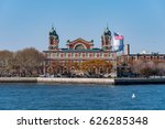 ellis island at sunny day | Shutterstock . vector #626285348