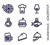 restaurant food and drink icon... | Shutterstock .eps vector #626285519