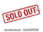 sold out red grunge stamp  sale ... | Shutterstock .eps vector #626289539