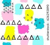 pattern of trendy geometric...   Shutterstock .eps vector #626292890