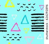 pattern of trendy geometric... | Shutterstock .eps vector #626292896