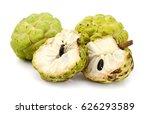 fresh custard apple isolated on ... | Shutterstock . vector #626293589