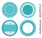 blue sale badges templates ... | Shutterstock .eps vector #626294114
