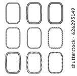 vector rope set of rectangular... | Shutterstock .eps vector #626295149