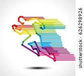 abstract running man. vector... | Shutterstock .eps vector #626298926