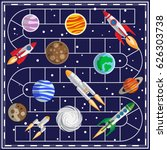 a board game on the space theme.... | Shutterstock .eps vector #626303738