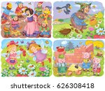 small set of fairy tale... | Shutterstock . vector #626308418