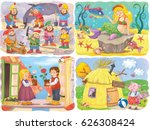 small set of fairy tale... | Shutterstock . vector #626308424