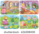 small set of fairy tale... | Shutterstock . vector #626308430