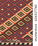 vector persian carpet  tribal... | Shutterstock .eps vector #626317760