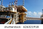 offshore construction platform... | Shutterstock . vector #626321918