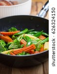 stir fried vegetable with cheese | Shutterstock . vector #626324150