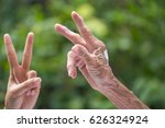 old and young hands.   Shutterstock . vector #626324924