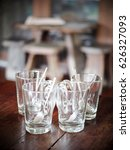 small clear clean glass with... | Shutterstock . vector #626327093