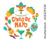 cinco de mayo mexican holiday... | Shutterstock .eps vector #626329130