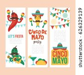 cinco de mayo mexican holiday... | Shutterstock .eps vector #626329139