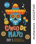 cinco de mayo mexican holiday... | Shutterstock .eps vector #626329160