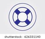 lifebuoy  icon  vector... | Shutterstock .eps vector #626331140