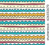 ethnic seamless pattern in hand ... | Shutterstock .eps vector #626332670
